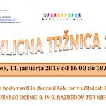 11.  januar 2018 – Poklicna tržnica
