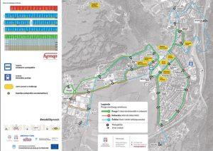 Zemljevid javnega potniškega prometa v Postojni