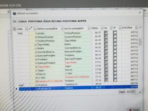 Jutranji dovoz v Postojno iz smeri Lohača, Belsko, Bukovje….