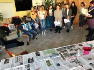 21. 3. 2019 – Pomladni nastop in delavnice v domu starejših Talita kum