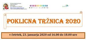 POKLICNA TRŽNICA 2020 – četrtek, 23. januar 2020